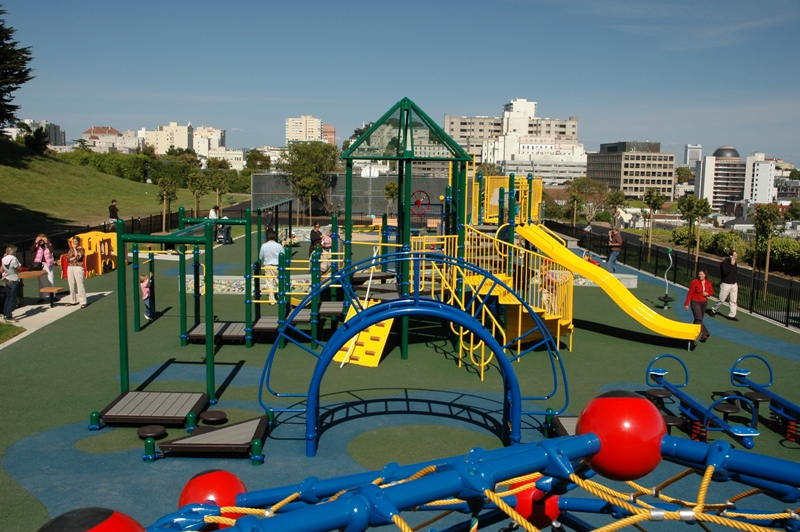 Colorful Commercial Playground Projects by Community Playgrounds keep kids safe while having fun