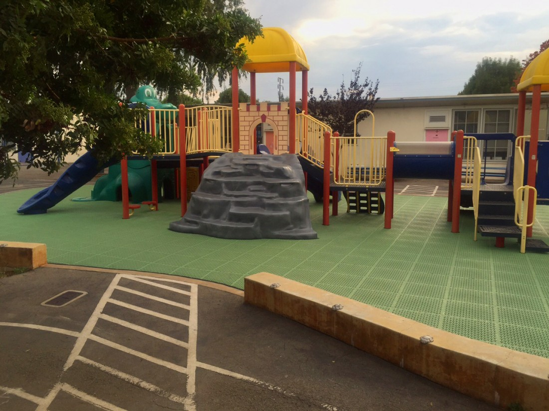 Play Area Construction is finished at Walgrove Elementary in Los Angeles, CA