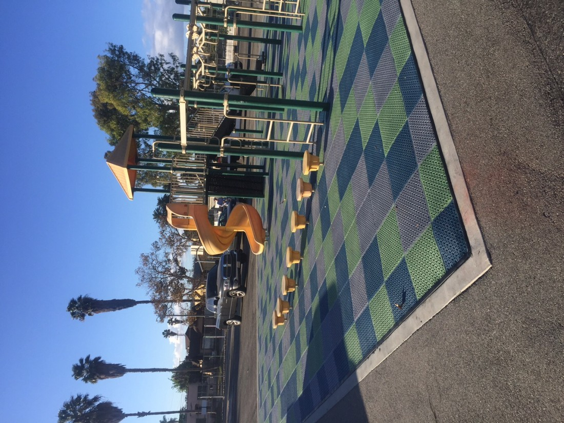 Playground Equipment Installers completed 59th St Elementary School Playground in Los Angeles, CA