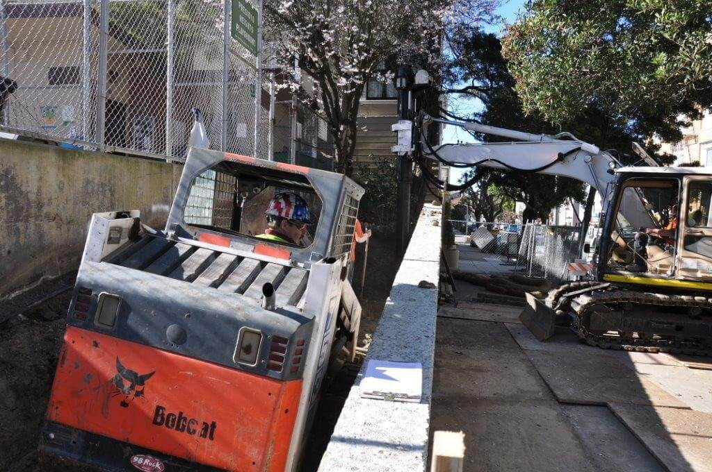 Site preparation begins for playground installation services
