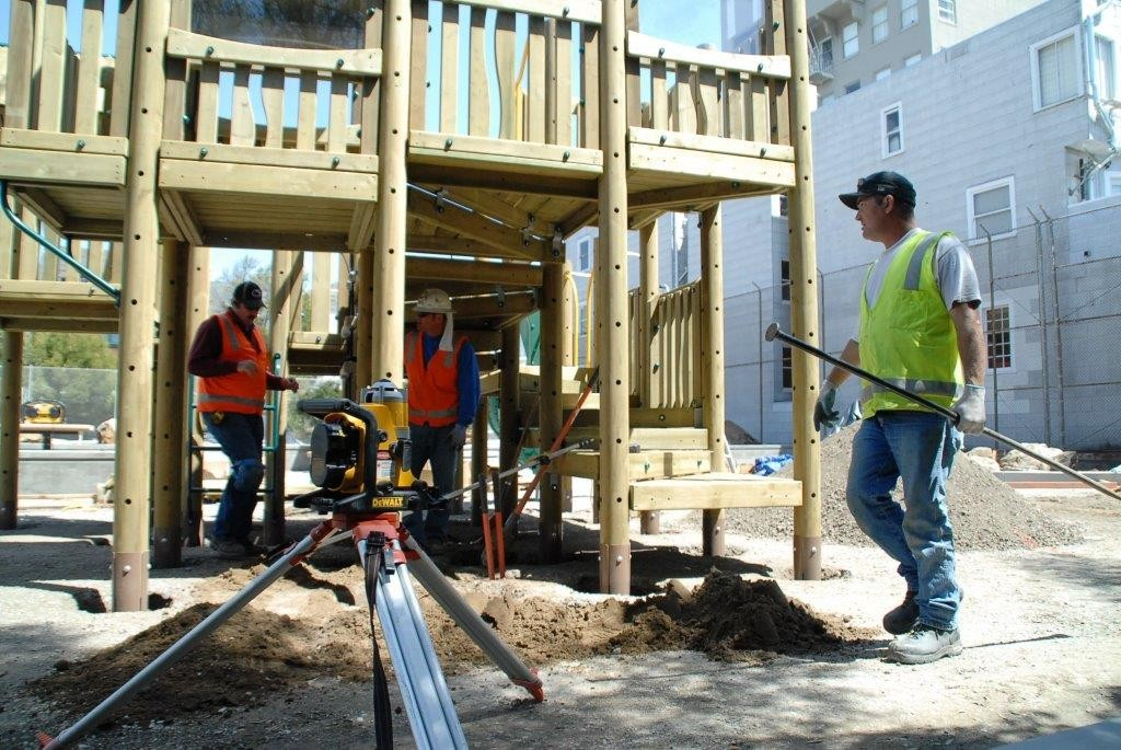 Playground Installation Services by Community Playgrounds servicing San Francisco Bay Area and LA