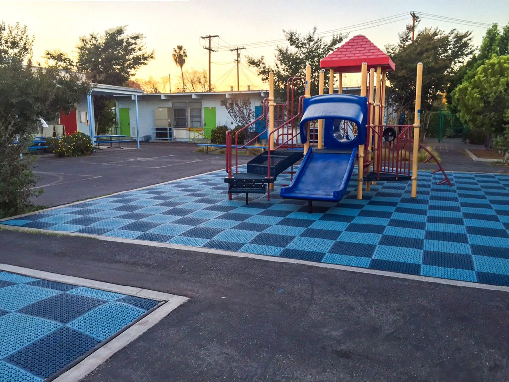 Play area at Beethoven Elementary in Los Angeles