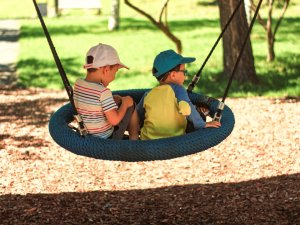 Play parks are often where you meet lifelong friends
