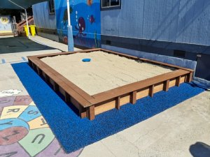 Sandbox at East Palo Alto Headstart a Community Playgrounds finished project