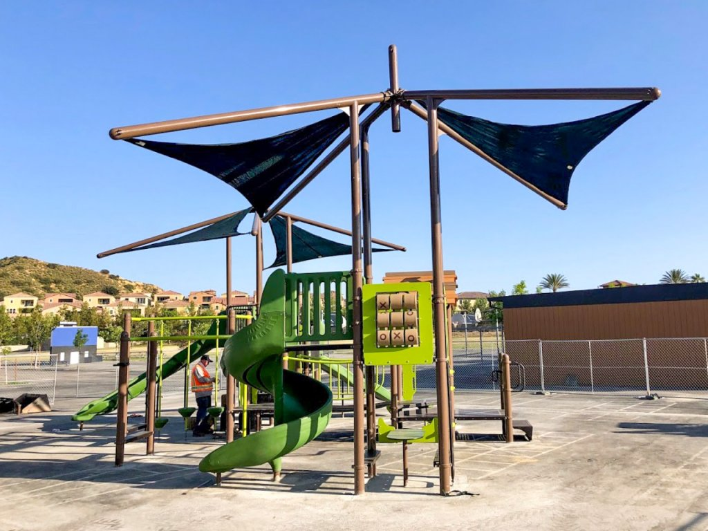 Porter Ranch Playground Installation nears finish by Community Playgrounds
