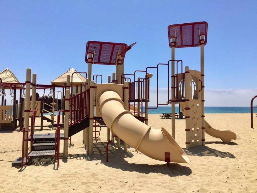 Beach Playground installed by Community Playgrounds Equipment Installers