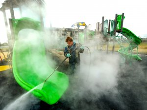 Pressure washing playground equipment is the best way to clean it
