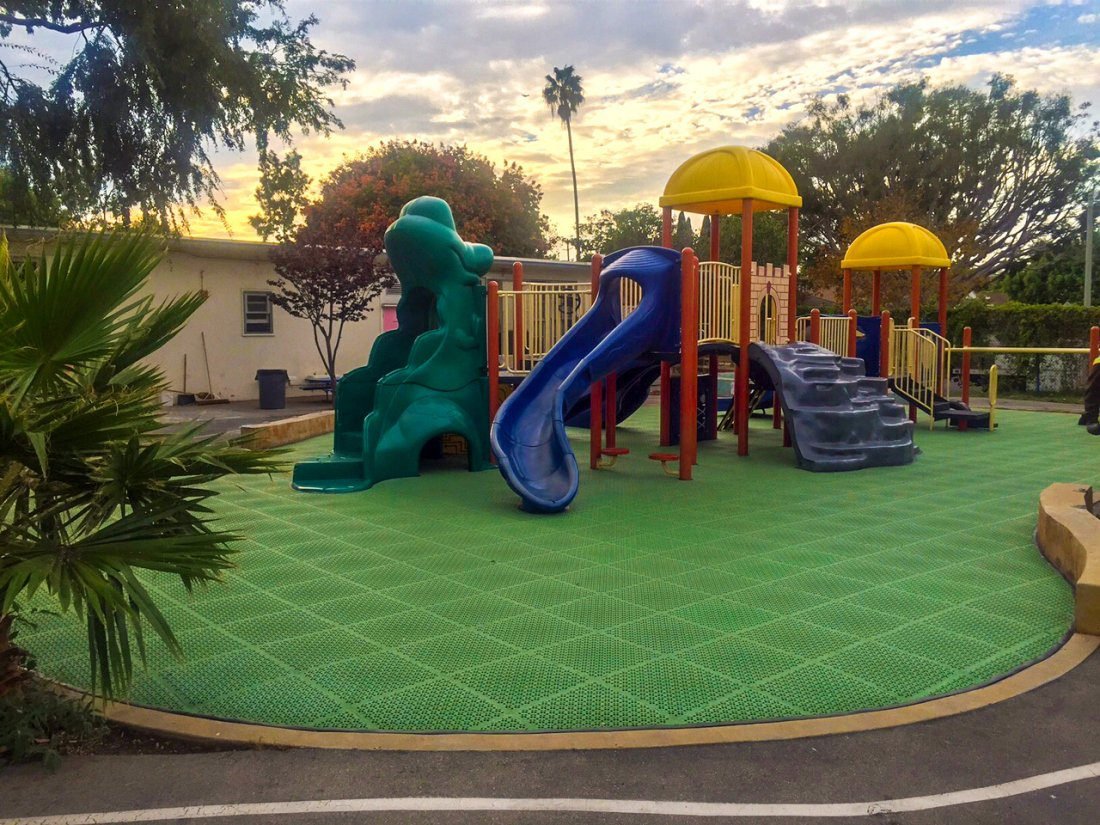 Playground Projects such as Walgrove Elementary in Los Angeles can be completed in less than a week