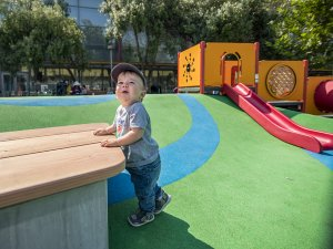 Toddler area at Yerba Buena Gardens in San Francisco
