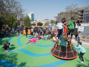 Yerba Buena Gardens playground installed by Community Playgrounds